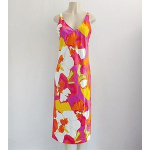 Natori Bright Tropical Floral Slip Nightgown